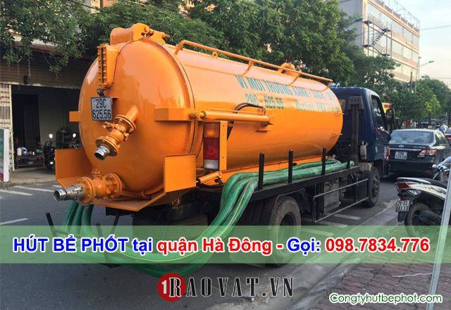 Dịch vụ hút bể phốt tại quận Hà Đông Hà Nội