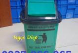 Thùng rác nắp lật 5 lít, thùng rác y tế 5 lít treo xe tiêm