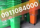 Thùng rác công cộng 120 lit, 240 lít, thùng rác y tế giá sỉ tại Vĩnh Long - LH ngay:0911084000