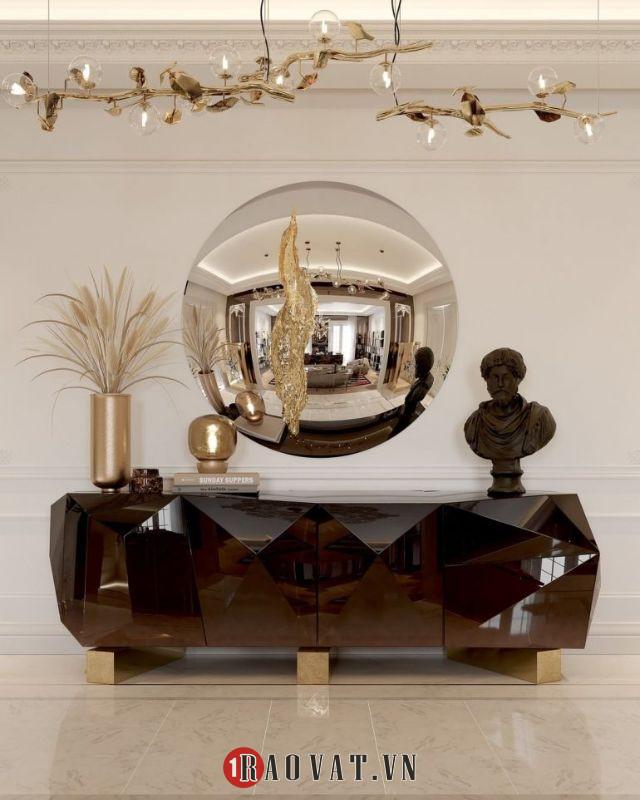 Tủ trang trí sang trọng thiết kế nội thất hiện đại cho phòng khách của bạn