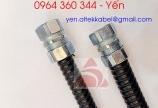 Ống ruột gà bảo vệ dây lõi thép bọc nhựa PVC đen